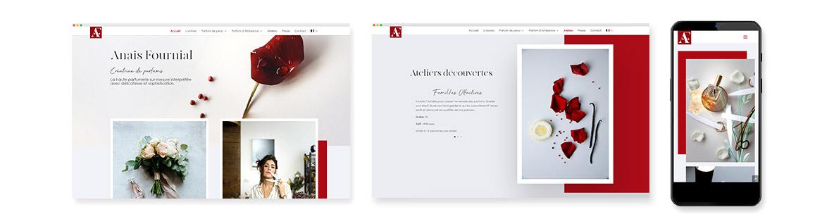 création site internet Anais Fournial